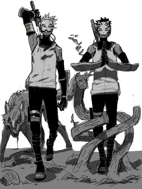 :3 #Kakashi #Tenzou #Anbu