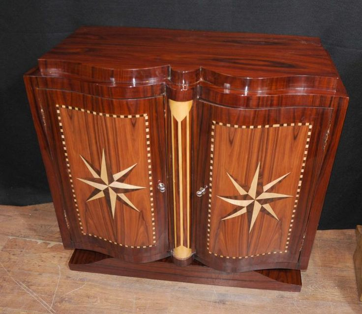 art deco furniture 1920s. art deco star inlay cabinet sideboard buffet server furniture 1920s r