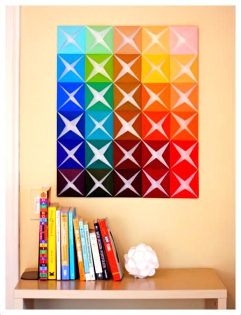 Paper Crafts : DIY Construction Paper Craft with origami paper