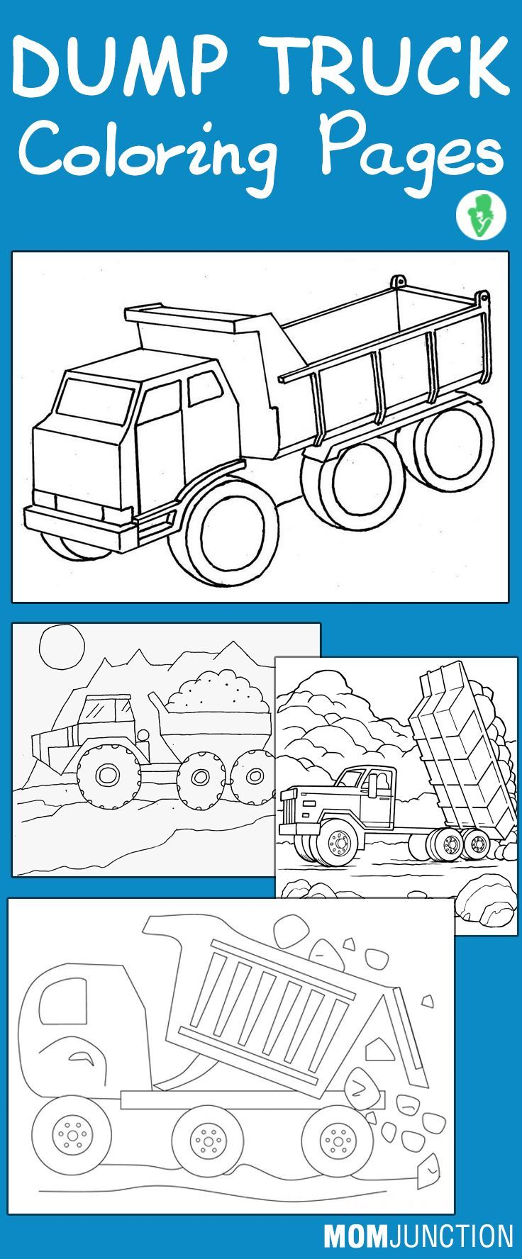 Coloring pages by numbers for kids of trucks - Top 10 Dump Truck Coloring Pages For Your Toddlers