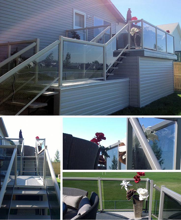 Patio Railings Done by Airdrie Windshield & Glass in Airdrie, Alberta
