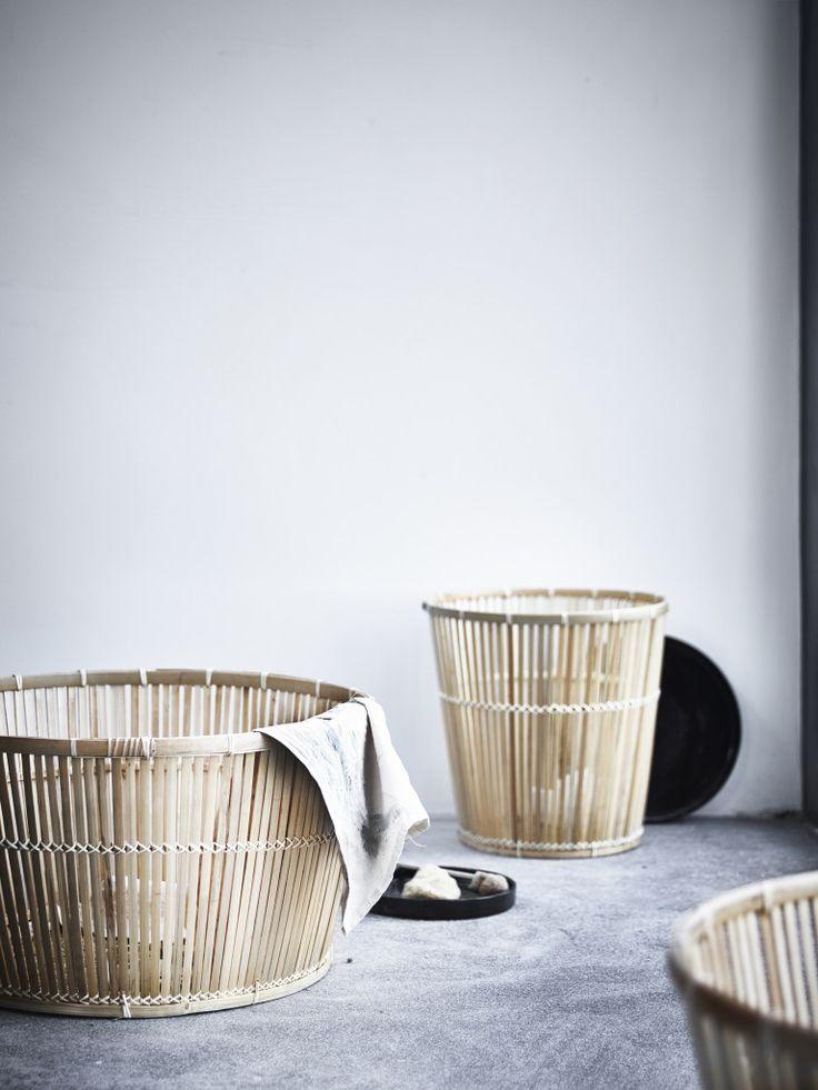 IKEA VIKTIGT collection bamboo baskets