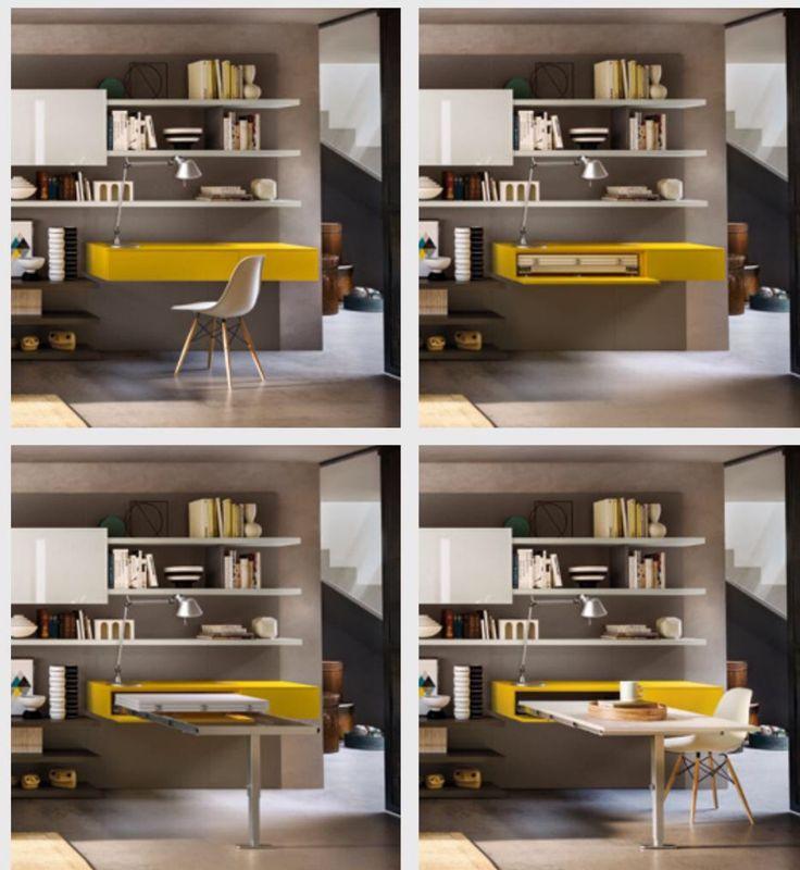 Poco spazio? ...mobili a scomparsa, pareti scorrevoli...sono solo alcune delle idee salvaspazio! #design #ideas #interior #homedesign #rossimobili #botticino