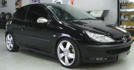"""Peugeot 206 com rodas TSW Reflex Aro 18"""""""