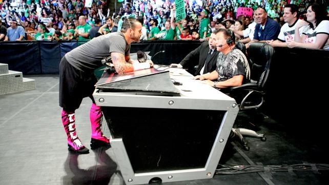 CM Punk demands respect on WWE Monday Night Raw.: Photo