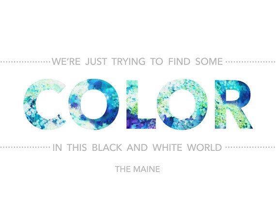Color Word Art Print The Maine lyrics quote poster by rdprints, $11+
