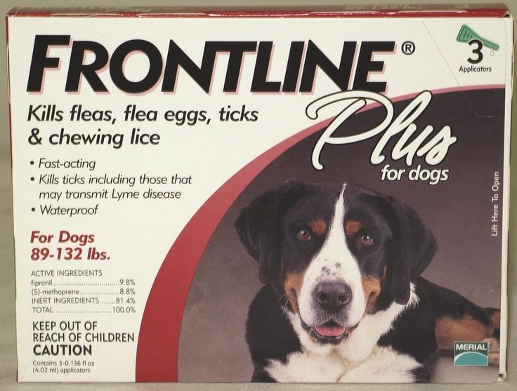 Merial Frontline Plus for Dogs, 89-132 Lb, 3 Doses * Startling review available here  : Flea and Tick Control