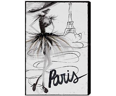 Картина на холсте Fashion Doll Paris - холст - черный