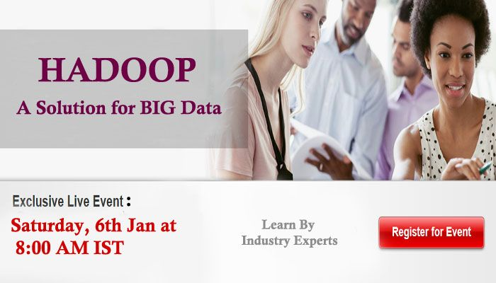 Attend FREE Webinar on #Hadoop and #Big data [Friday, 5th Jan at 9:30 PM EST] - Register Now  Write a #MapReduce program using Hadoop #API.  Utilize #HDFS for effective loading and processing of data with CLI and API.  Understand best practices for building, debugging and optimizing Hadoop solutions.  Use Pig, #Hive, #HBase and #HCatalog effectively.