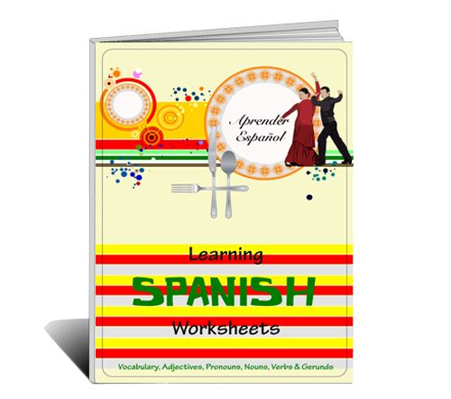 26 page book of Spanish 1 level activities covering vocabulary, pronouns, nouns, adjectives, verbs and gerunds.