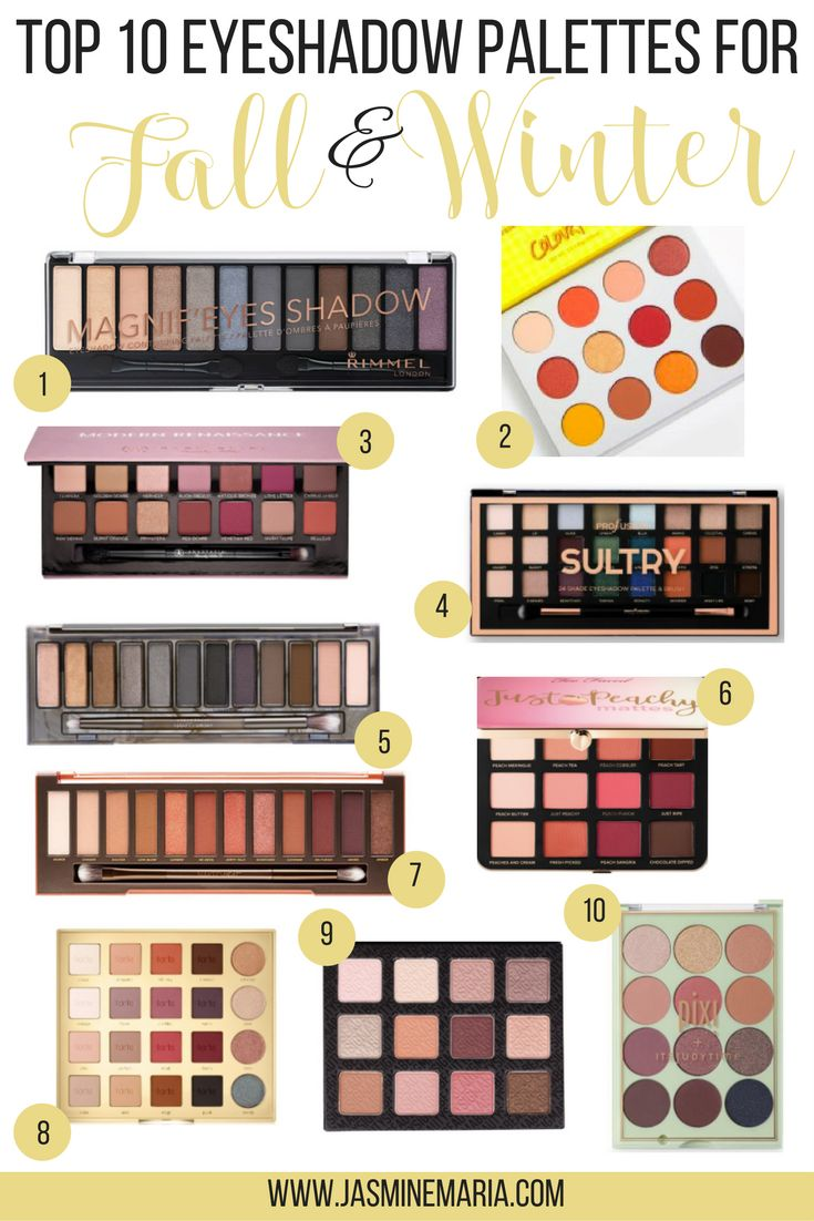 Top 10 Eyeshadow Palettes for Fall and Winter