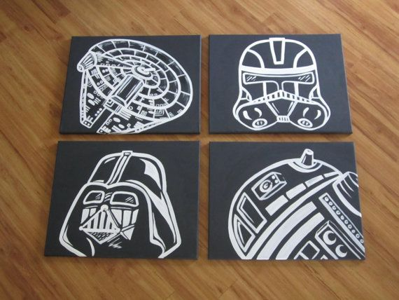I attempted to do an art project just like this one (almost identical its cray) and gave up after I spent hours doing a Darth Vader . . They did it so much better. . bitches, gotta love em