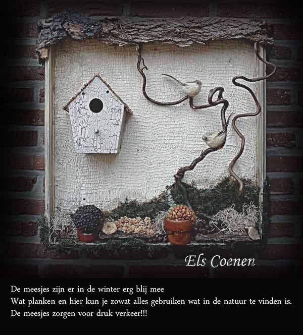 Kijkkast met vogelhuisje takken en mos buiten decoraties tuin idee n pinterest takken - Decoratie themakamer paris ...