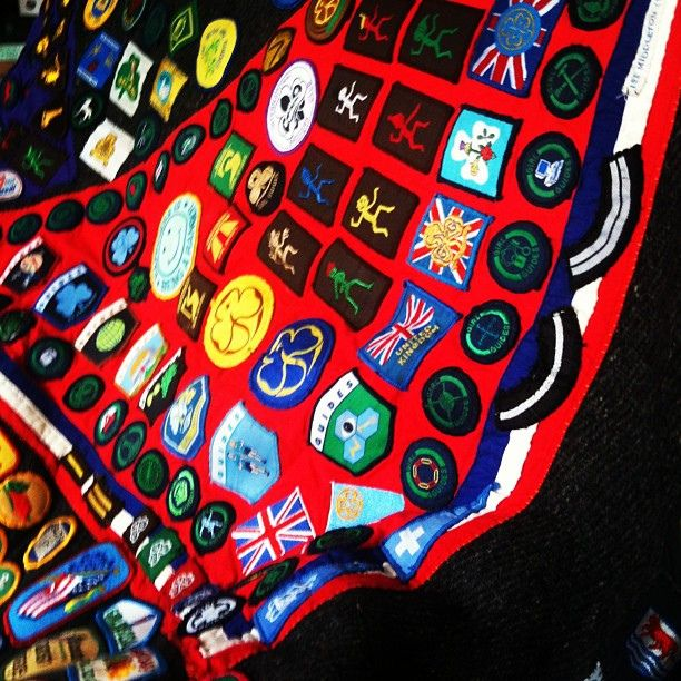 Old camp blanket from the girl guide days