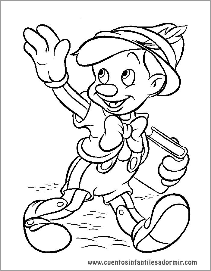 Dibujos para colorear cuentos Pinocho