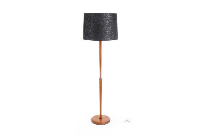 Teak Floor Lamp - Mr. Bigglesworthy Designer Vintage Furniture Gallery