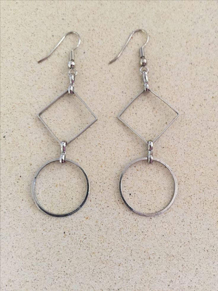 Silver drop earrings by Scattered Creations