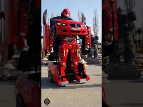 CARRO BMW TRANSFORMERS DA VIDA REAL ROBÔ CAR