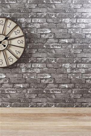 Buy Grey Brick Wallpaper from the Next UK online shop