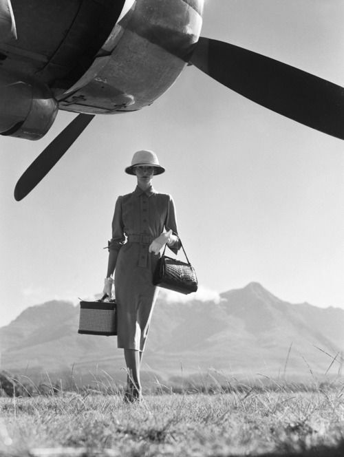 The Art of Travel, 1951 by Norman Parkinson.