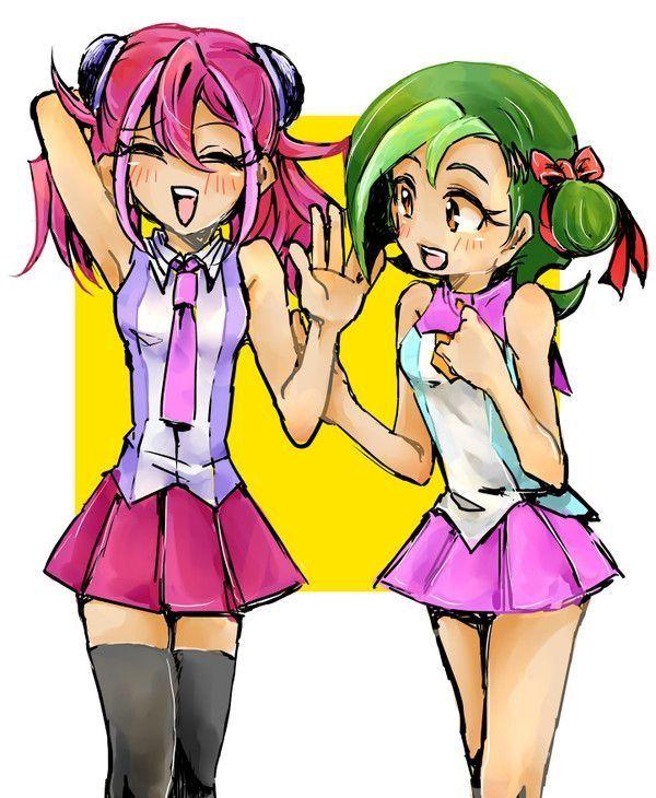 Yuzu And Kotori Yugioh Arc V Yugioh Anime Female Protagonist