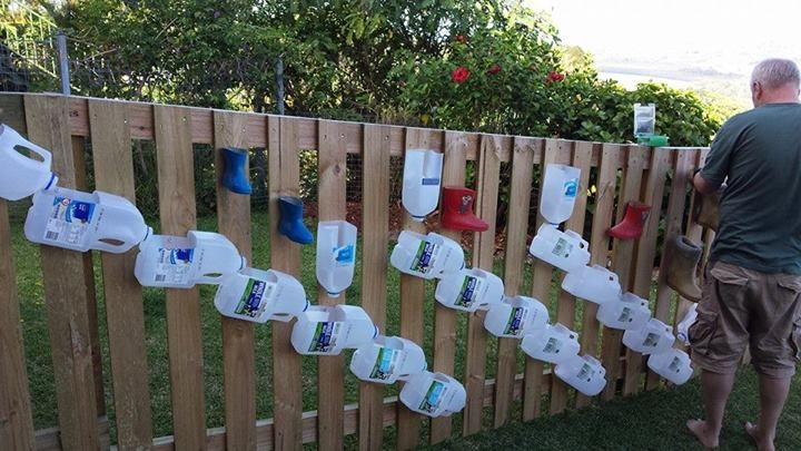"""Water wall at Sharna's Family Day Care ("""",)"""