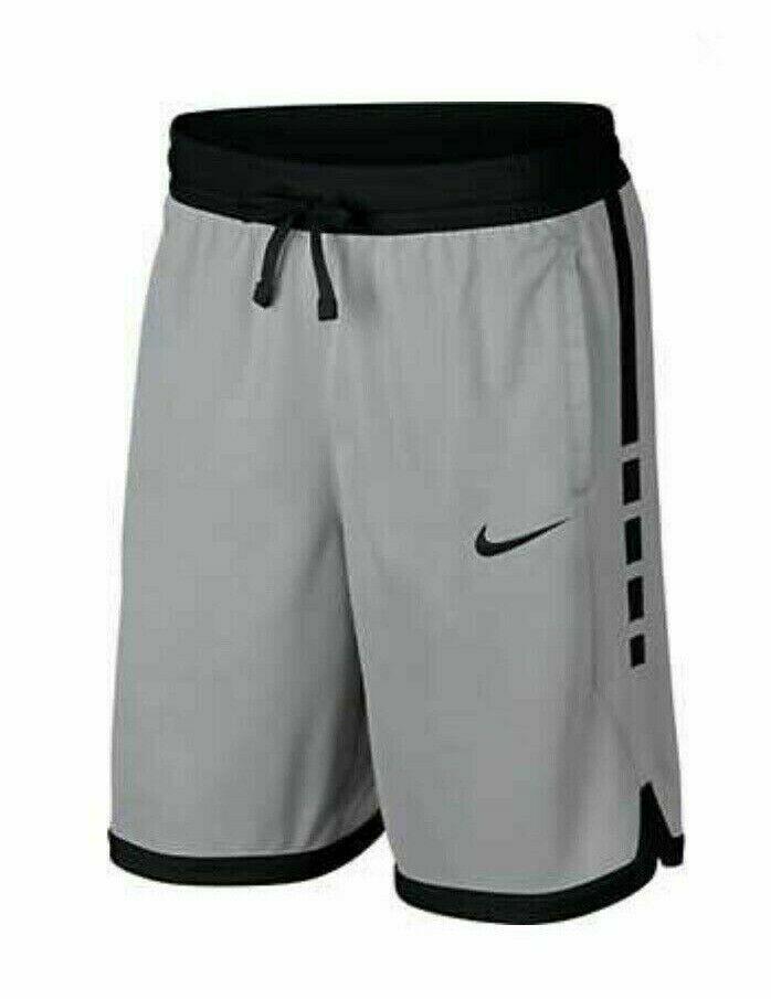 Nike Dri-FIT Elite Stripe Basketball Shorts Mens L Wolf Grey ...