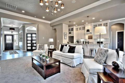 Wall Color is Requisite Gray Sherwin Williams. Clark and Co. Homes. 2016 top colors