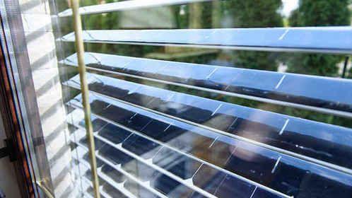 Persianas con celdas solares inteligentes para generar electricidad