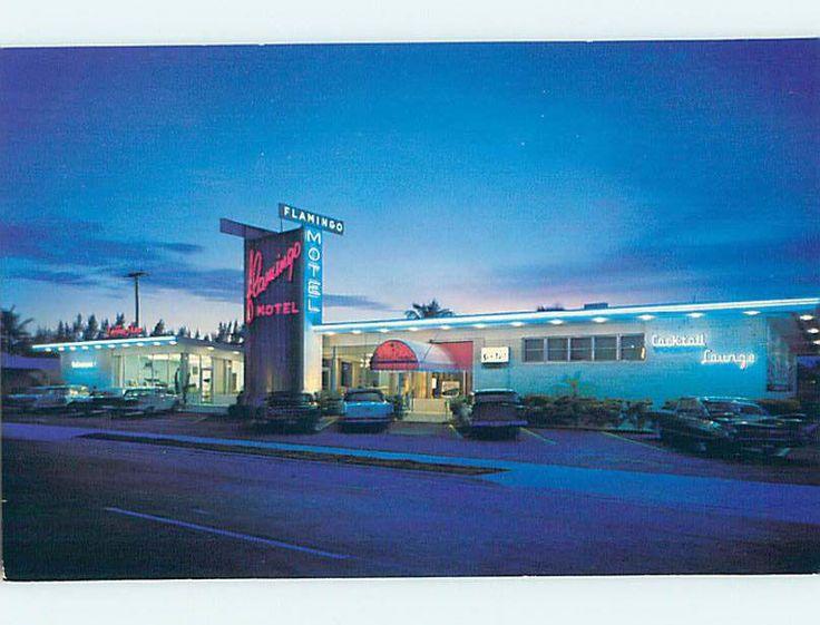 Unused Pre-1980 FLAMINGO RESORT MOTEL Hallandale Beach FL M3341