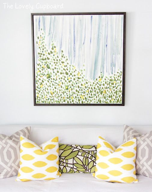 Hand-sewn pillow cases are a great and easy way to update the look of your porch.: Wall Art, Idea, Living Rooms Design, Diy Art, Bold Prints, Colors Schemes, Eclectic Living Rooms, Heather Freeman, Throw Pillows