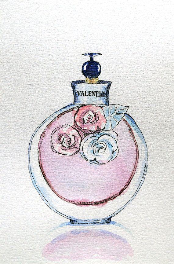 Original Valentino Perfume Watercolour Illustration  by Smogartist, £20.00