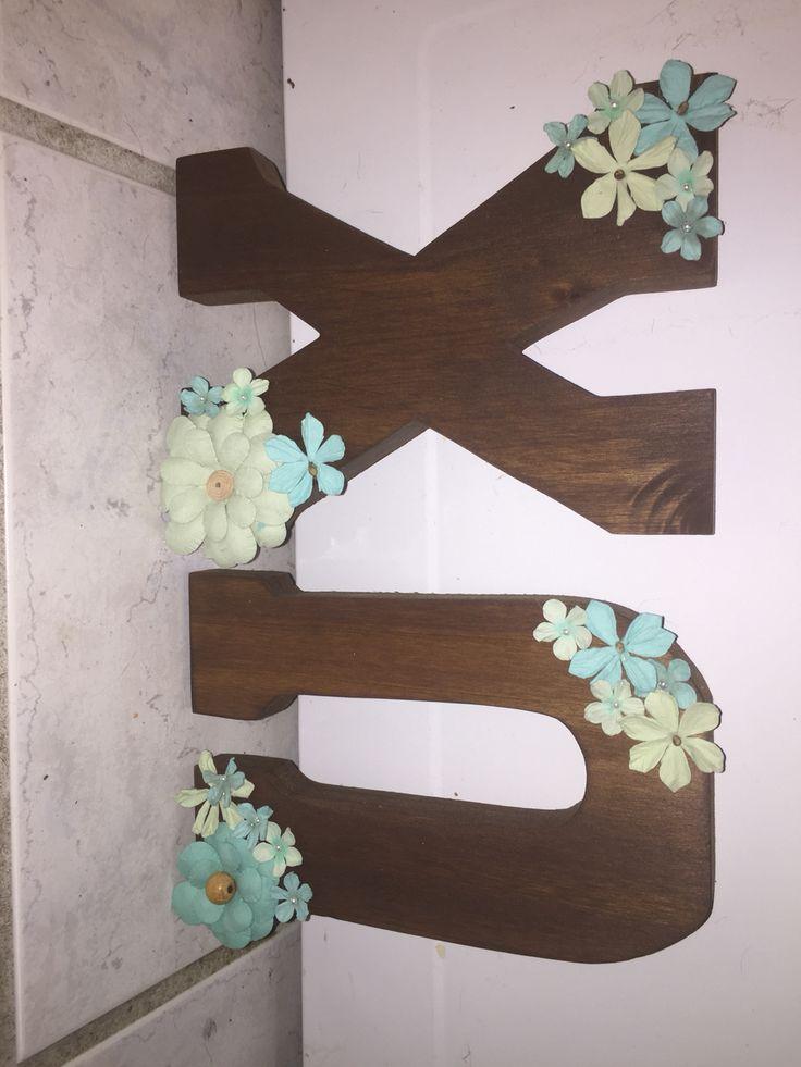 Chi omega sorority wooden letters
