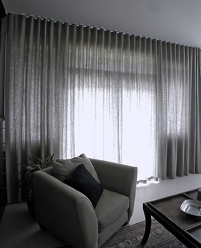 curtain style, and small contrast banding detail at top
