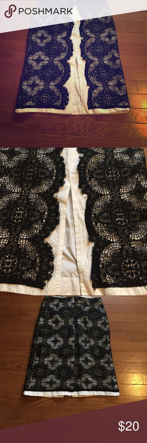 Black and white lace skirt Great for cocktail or a night out! Skirts Pencil