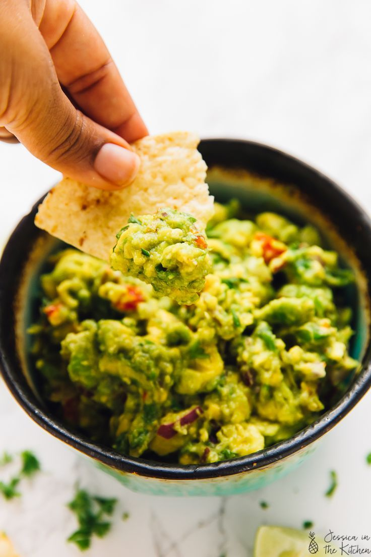This Easy Guacamole Recipe is the ultimate crowd pleaser dip! It's made with