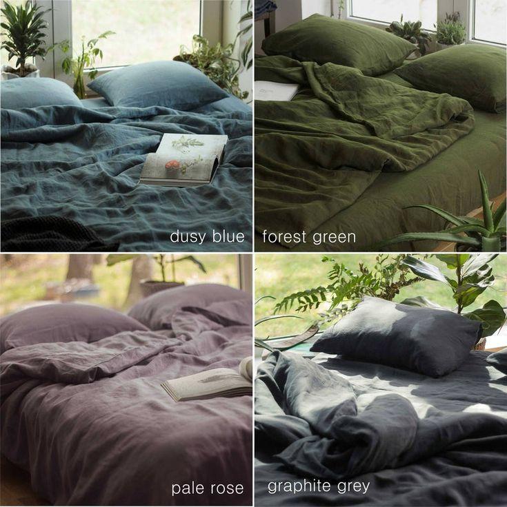 Blue Linen Duvet Cover Linen Quilt Cover Linen Duvet Cover Pure Linen Bedding Custom Size Duvet Cover Linen Doona Cover Blue Bed Linen Linen Duvet Covers Linen Duvet Green Duvet Covers