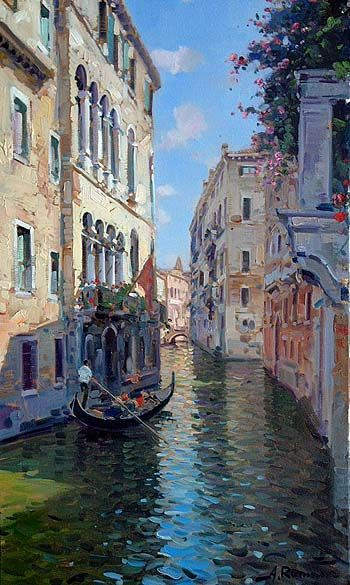 venice italy Canal impressionism art paintings 8 - wholesale-canvas-art.com