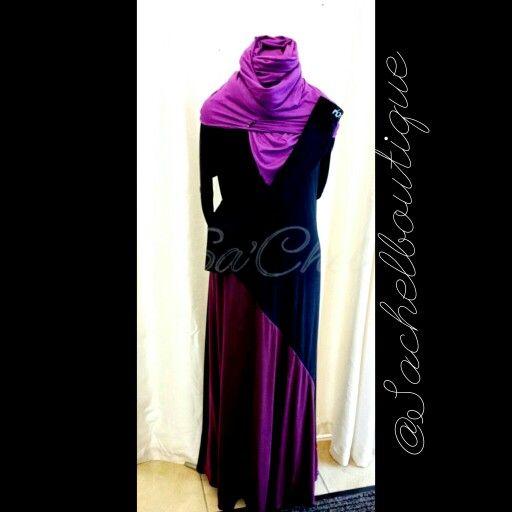 Sa'Chel 2 Colour slash abaya
