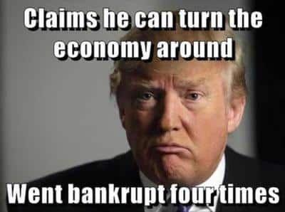 Donald Trump Economy Bankruptcy #memes