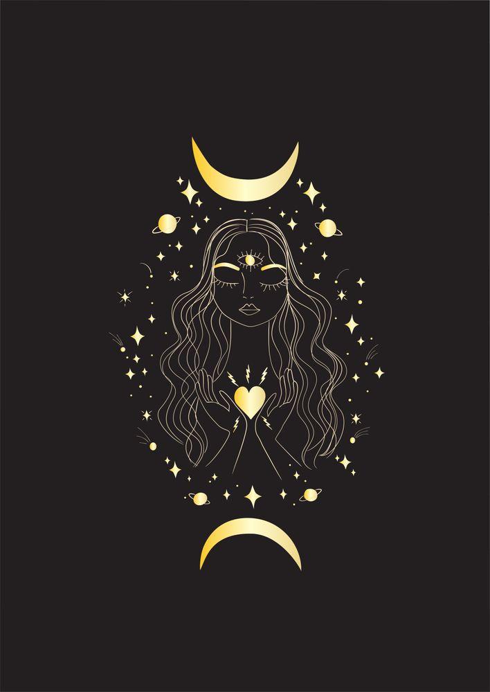 Open Your Heart Art Print By Anneamanda X Small Heart Art Print Moon Art Witchy Wallpaper