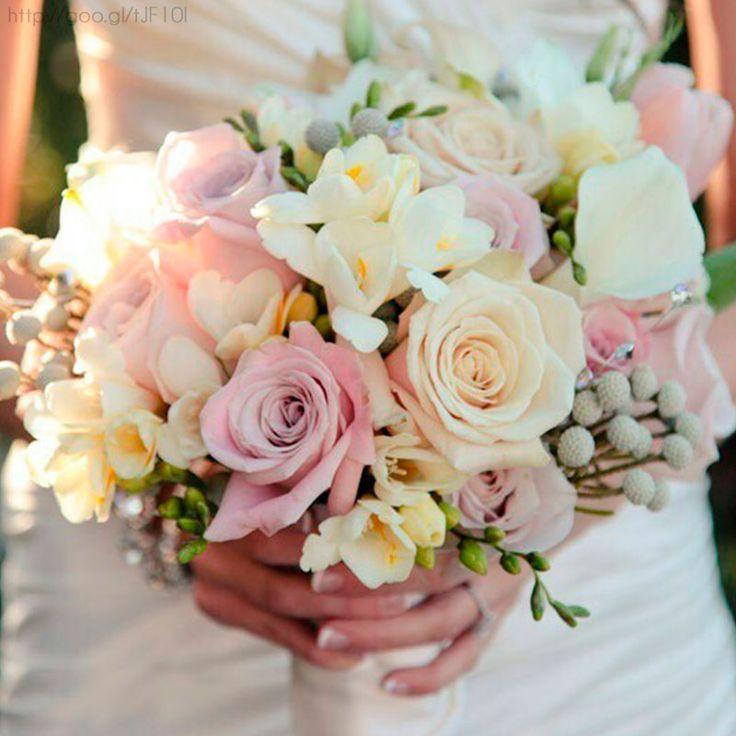 Ramo de novia en tono #pastel #bouquet #bride #Wedding #YUCATANLOVE