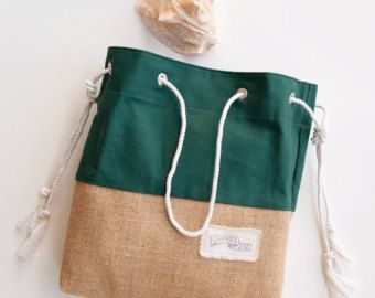 Canvas Tote WITH Lining // Large Beach Bag // от theAtlanticOcean