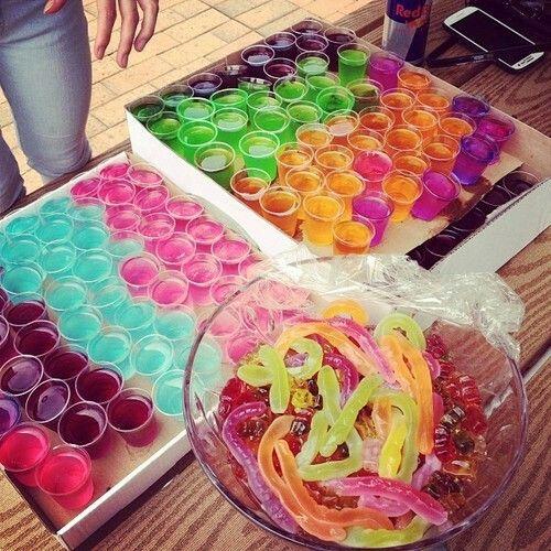 Jello Shots & candy!