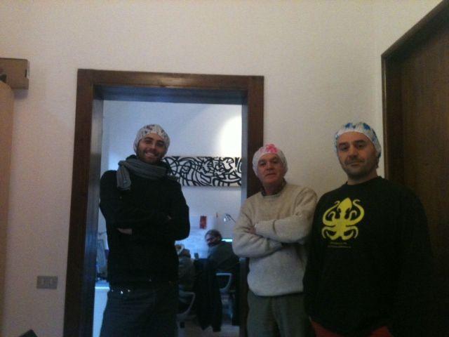 Sacha, Roberto and Iosto (and Petra!)