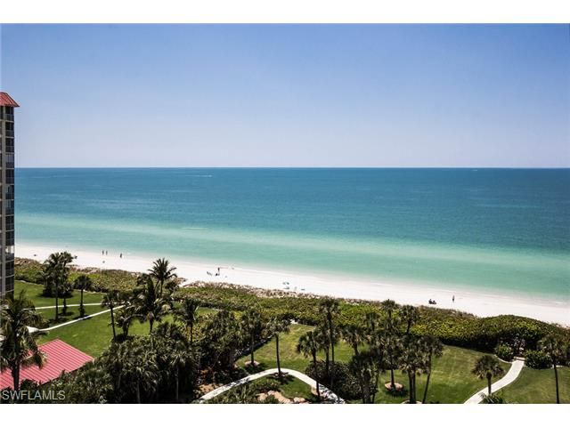 Views of Vanderbilt Beach from the Vanderbilt Gulfside condo building.  This building is just north of LaPlaya Beach Hotel and very close to Wiggins Pass State Park.  Looking at the Gulf of Mexico.  Naples, Florida