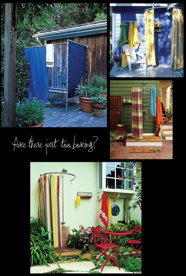 simple outside shower - Google Search... how refeshing to wake up and shower with nature!
