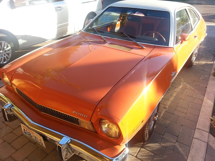 Vintage Orange Ford Pinto