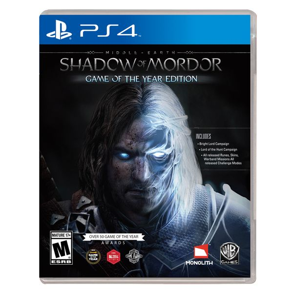 Product Features Game of the Year Edition includes Middle-Earth: Shadow of Mordor game, additional story missions, challenge modes, Runes, Skins and more Expand your gameplay with The Lord of the Hunt