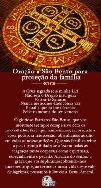 Oração de São Bento para proteção da Família.
